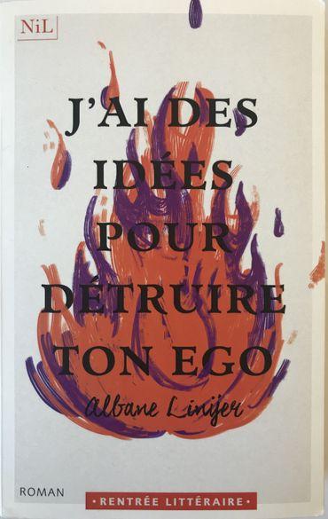 « J'ai des idées pour détruire ton égo» d'Albane Linÿer, aux éditions du Nil.