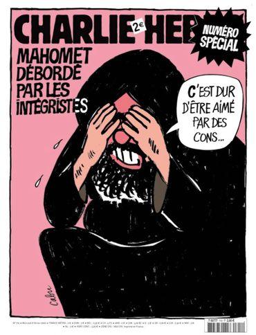 C'est dans ce numéro que Charlie Hebdo relayera les caricatures danoises