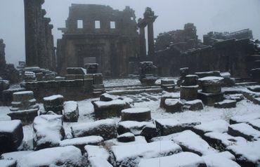 Les ruines archéologiques dans la province de Suweida, en Syrie