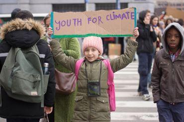Quelque 3.000 élèves néerlandophones dans les rues de Bruxelles pour le climat