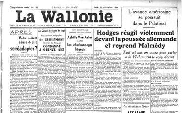 Les alliés reprennent Malmédy et Stavelot