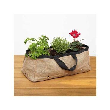 Jardinière de terrasse en toile de jute Prêt à jardiner