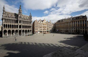 Grand'Place de Bruxelles, en temps de confinement
