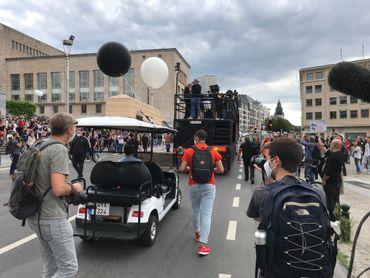 Le secteur événementiel manifeste à Bruxelles