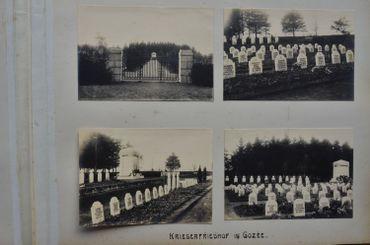 Cimetière allemand de Gozée en 1916