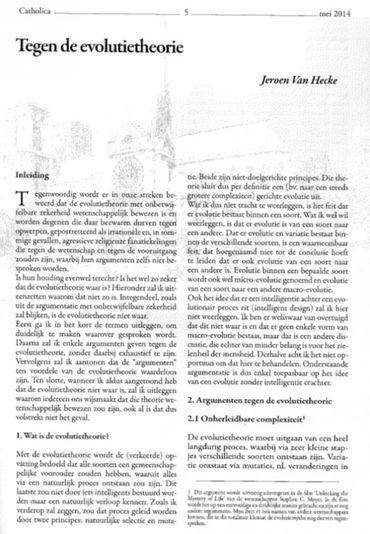 La revue Catholica est distribuée librement dans l'école. Cet article du numéro de mai illustre les partis pris pédagogique de l'établissement.
