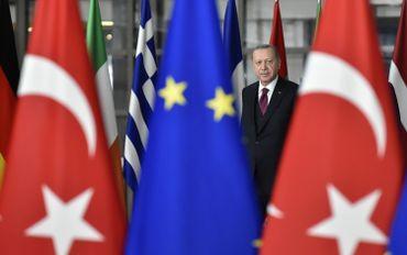 Le président turc R.T. Erdogan à Bruxelles, le 09 mars 2020