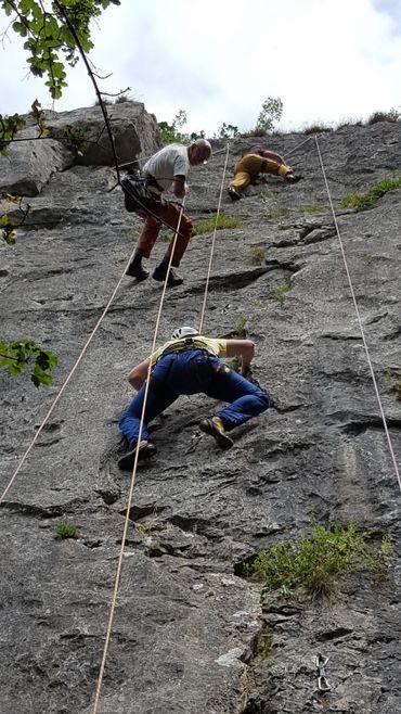 Les rochers de Freyr font le bonheur des amateurs de grimpe