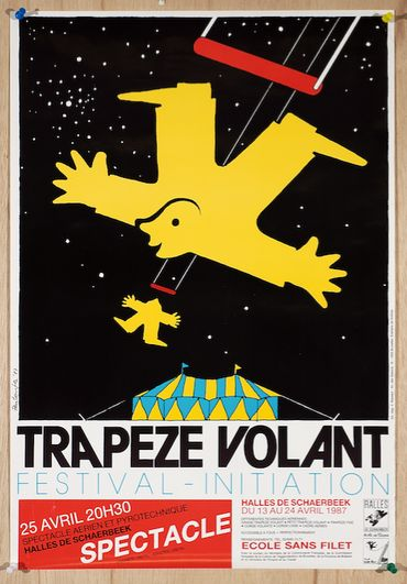 FESTIVAL TRAPÈZE VOLANT, BRUXELLES, 1987