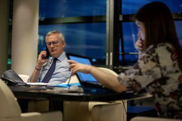 Bruno Le Maire, ministre français des Finances, participe évidemment à la réunion de l'Eurogroupe en visio-conférence