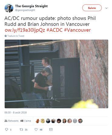 AC/DC: Brian Johnson est au studio