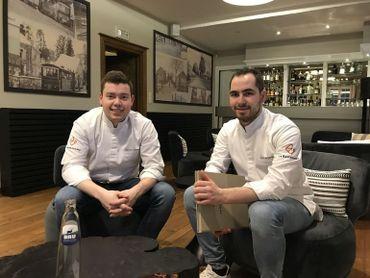 """Les 2 nouveaux et jeunes chefs du """"Le Gastronome"""" : Sébastien Hankard et Jean Vrijdaghs"""