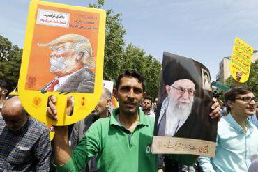 Manifestation anti-Trump à Téhéran, en mai 2018