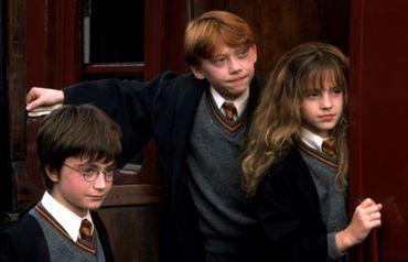 Daniel Radcliffe (Harry Potter), Rupert Grint (Ronald Wesley), Emma Watson (Hermione Granger) forment le trio le plus connu de Grande-Bretagne