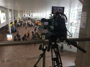 Tournage à Brussels Airport