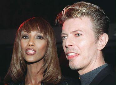 David Bowie et Iman, son épouse, en 1995.