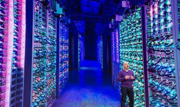 Image d'un data center de Google lors de la conférence de présentation de Stadia