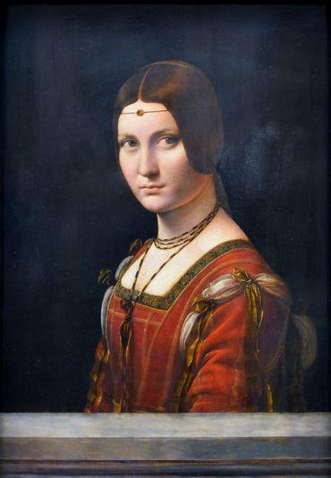 Leonardo da Vinci - La belle ferronière - Le Louvre