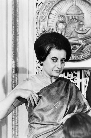 Indira Ghandi en 1966