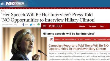 Journal du Web : Pourquoi Hillary Clinton ne parle pas aux journalistes