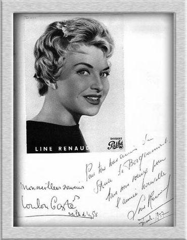 Line Renaud a signé le livre d'or du sanatorium.