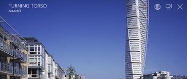 La tour Turning Torso à Malmö en Suède