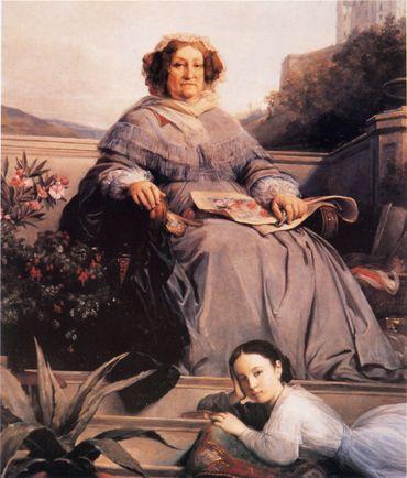 La Veuve et son arrière petite-fille Anne
