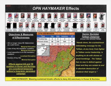 """Les victimes de l'opération """"Haymaker"""""""