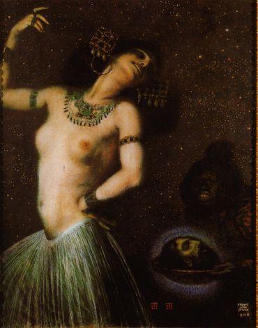 Salomé dansant pour Hérode par Franz von Stuck (1906)