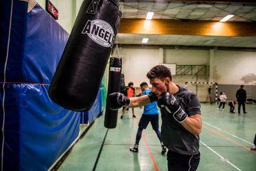 Les jeunes sportifs de la Kureghem boxing Academy.