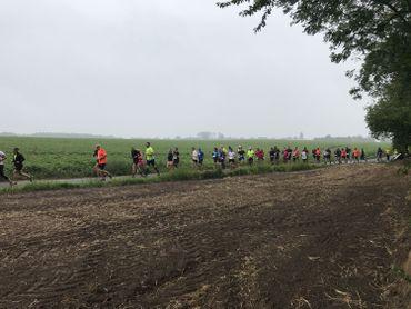 Un parcours champêtre, légèrement vallonné, attendant les participants.