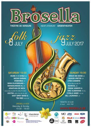 L'affiche du Brosella Folk & Jazz 2017
