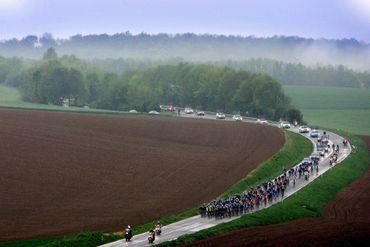 Le peloton du Giro travers la Wallonie