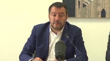 Le chef de la Ligue (extrême droite italienne) Matteo Salvini veut unir les partis européens souverainistes