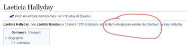 """Laeticia Hallyday, """"femme vénale"""": bataille de modifications sur la page Wikipédia de l'épouse de Johnny"""