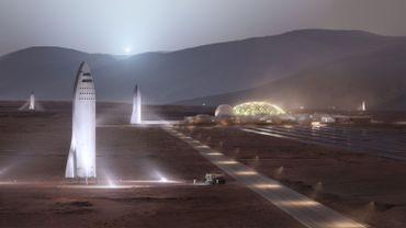 La vie sur mars telle que le patron de SpaceX, Elon Musk, l'imagine.