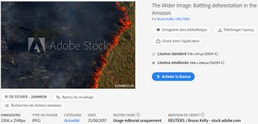 Ce cliché a été pris le 4 août 2017 par un photographe de l'agence Reuters, Bruno Kelly, pendant un incendie contrôlé