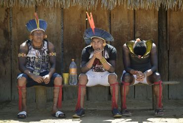 Indiens de la tribu Kayapo, en janvier 2020