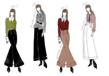 Plusieurs looks issus de la collaboration entre Sandro et Clara Luciani.