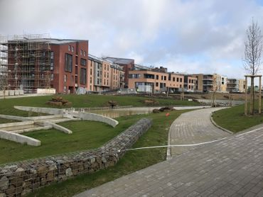 Un parc d'environ deux hectares est en cours d'aménagement derrière le quartier Courbevoie.