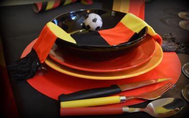 La déco de table se met aux couleurs de la Belgique