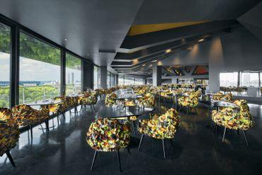 150 places assises et 30 à l'extérieur composeront la salle du restaurant de la Philharmonie de Paris.