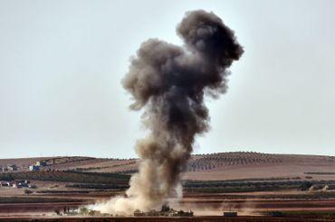 Vue de la banlieus de Kobané (Aïn el Arab), le 9 octobre