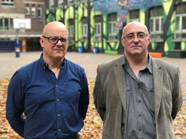 Pierre Leblond et Philippe Maes, anciens profs de géo et d'histoire de Sadia.