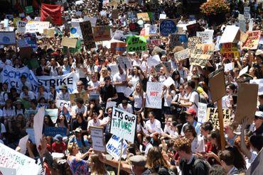 Manifestations des jeunes australiens à Sydney le 30 novembre dernier