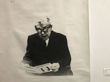Photographie de Magritte par Marcel Broodthaers