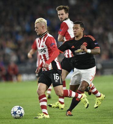 Maxime Lestienne face à Manchester United