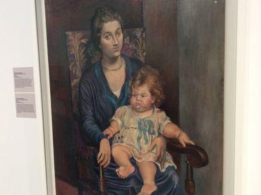 La femme de Paul Rosenberg posant avec sa fille Micheline, pour Picasso