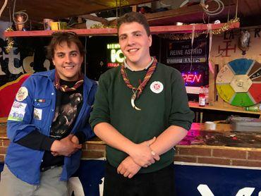 Olivier Brundseaux et Olivier D'Huart, chefs aux mouvements de jeunesse d'Embourg. Ils sont âgés de 20 ans.