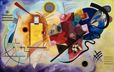 Kandinsky - Jaune, rouge, bleu